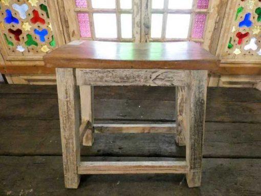 Vintage wooden milk stool-1