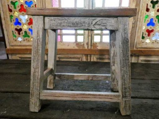 Vintage wooden milk stool-2