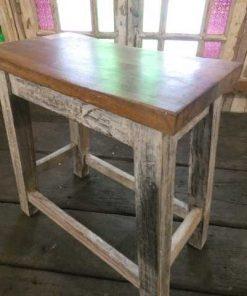 Vintage wooden milk stool-4