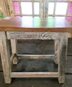 Vintage wooden milk stool-5