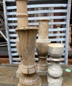Old wooden candlesticks-1