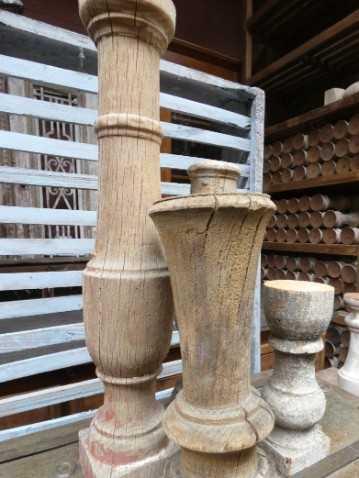 Old wooden candlesticks-2