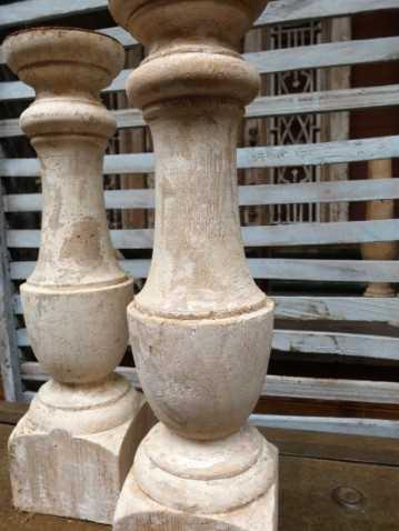 Wooden candlesticks-3