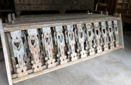 Vintage wooden balustrade-1