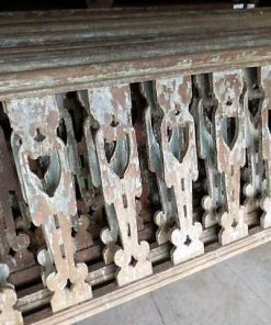 Vintage wooden balustrade-2