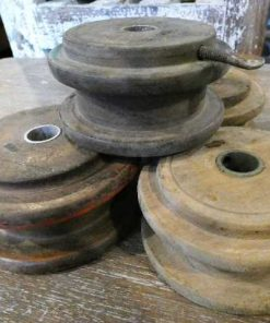 Old wooden pulleys-1