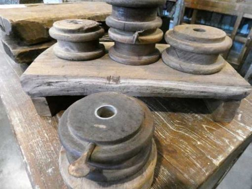 Old wooden pulleys-2