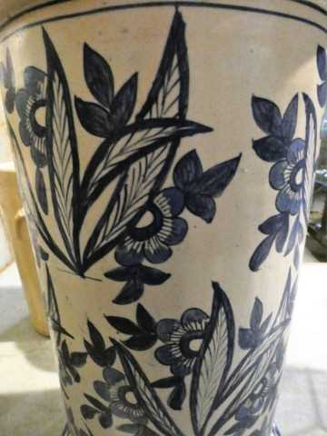 Old blue and white vase-4
