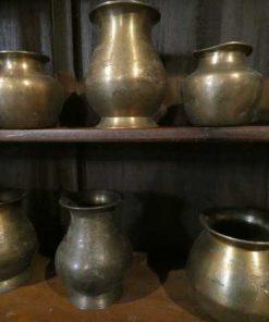 Antieke koperen potjes-3
