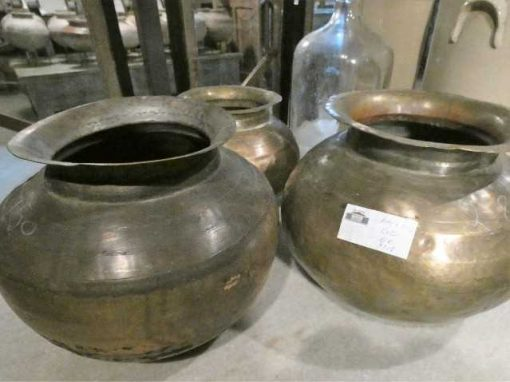 Copper colored water jars / pots / vases-3