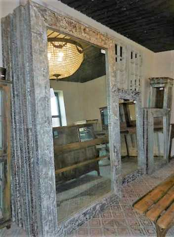 Industrial mirrors with metal frame-4