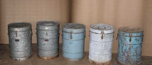 Vintage barrels with lid-4
