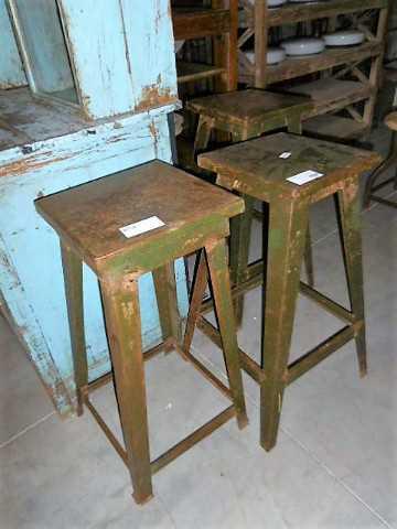 Vintage metal plants table / stool-1