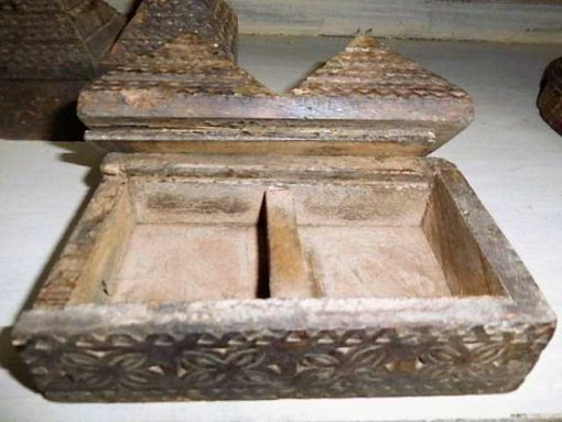 Decorative carved wooden boxes-3
