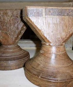 Decorative wooden candlesticks-1