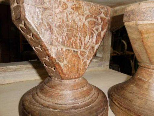 Dekorative Holzkerzenständer-2