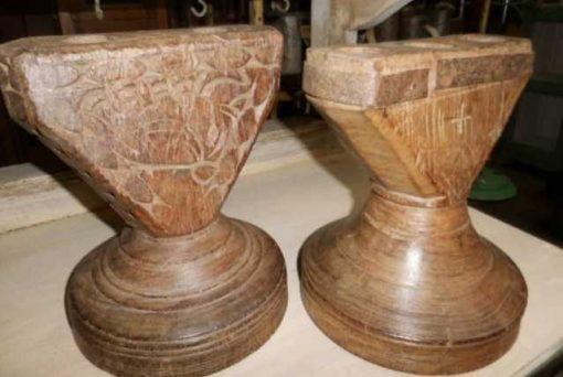 Decorative wooden candlesticks-3