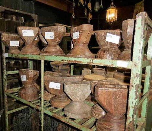 Decorative wooden candlesticks-4