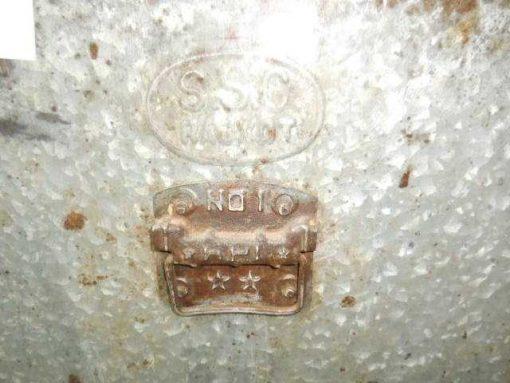 Vintage zinken bakken met deksel-2