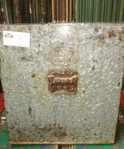 Vintage zinken bakken met deksel-3