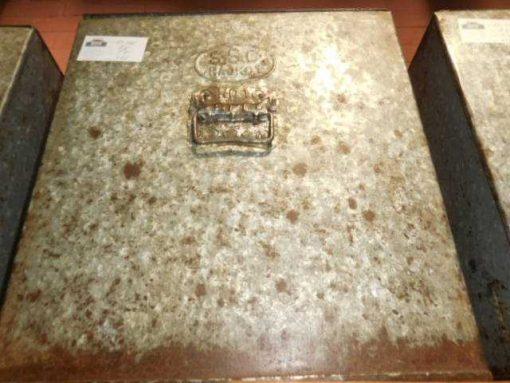 Vintage zinken bakken met deksel-5