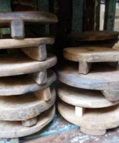 Old wooden chapati plates / bowls-1