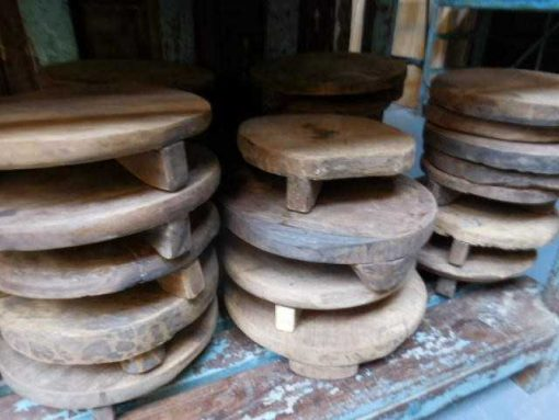 Old wooden chapati plates / bowls-3