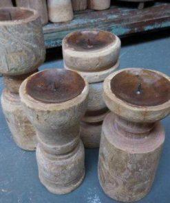 Wooden candlesticks-1
