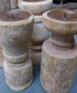 Wooden candlesticks-2