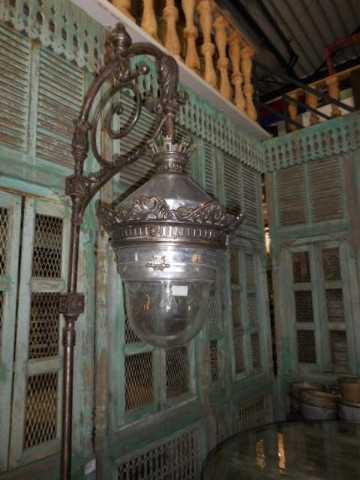 Antique art deco lantern pole-1