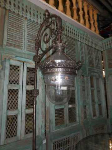 Antique art deco lantern pole-2