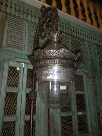 Antique art deco lantern pole-4