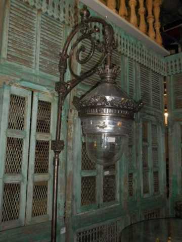 Antique art deco lantern pole-5