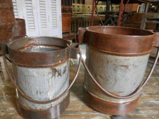 Old metal buckets / jars-2