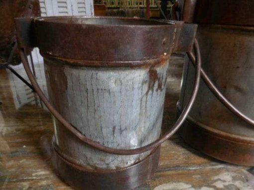 Old metal buckets / jars-3