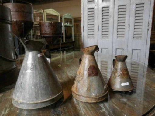 Vintage zinken gieter/ kan-1