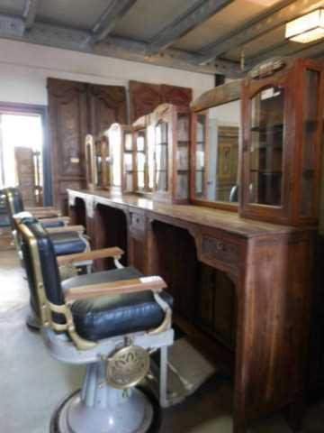 Vintage barber / hairdresser's chair-4
