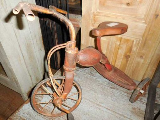 Antique red tricycle / children's bike-1