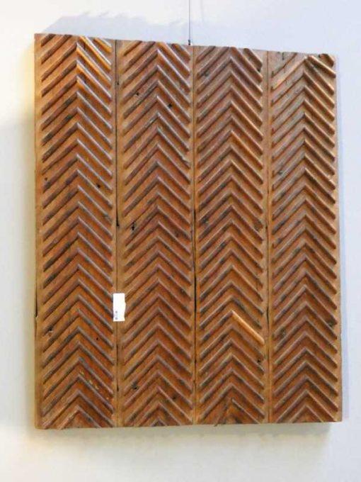 Antieke houten wandpaneel-1