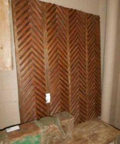 Antieke houten wandpaneel-2