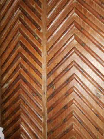 Antieke houten wandpaneel-4