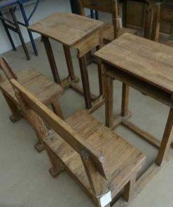 antiek hout schoolbankje-2