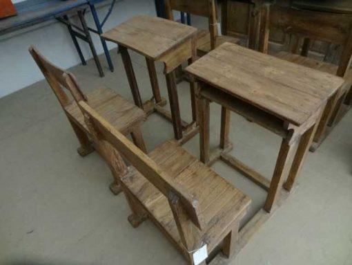 Antike Holzschulbank-2