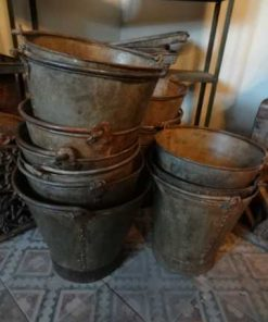 Old zinc and metal buckets-1