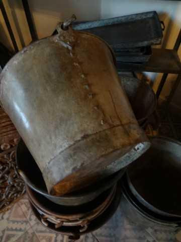 Old zinc and metal buckets-2