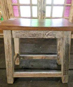 Vintage houten melk kruk-1