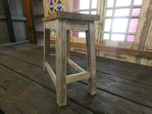 Vintage wooden milking stool-3