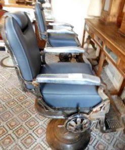 Vintage grey barber / hairdresser chair-1