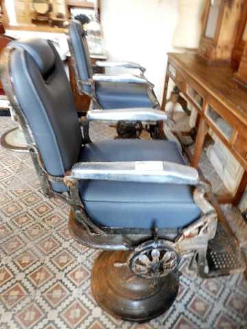 Vintage grauer Barbier-/Friseurstuhl-1