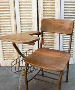 Vintage teak cinema bench / chairs-2